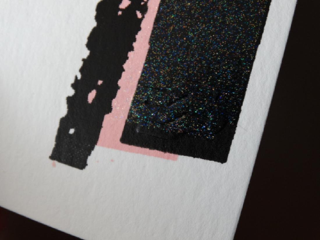 "Andy Warhol ""Mickey Mouse"" Silkscreen, diamond dust - 7"
