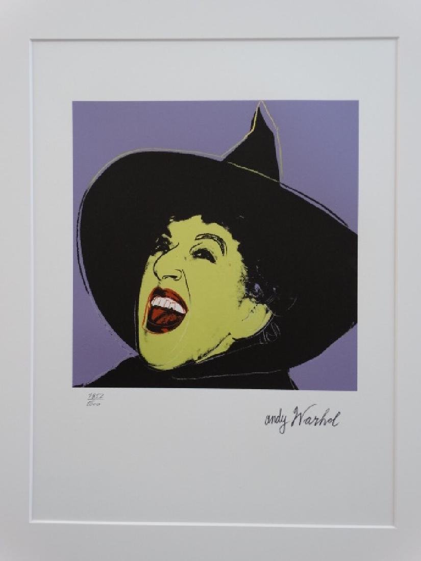 ANDY WARHOL, SIGNED, NUMBERED - 2