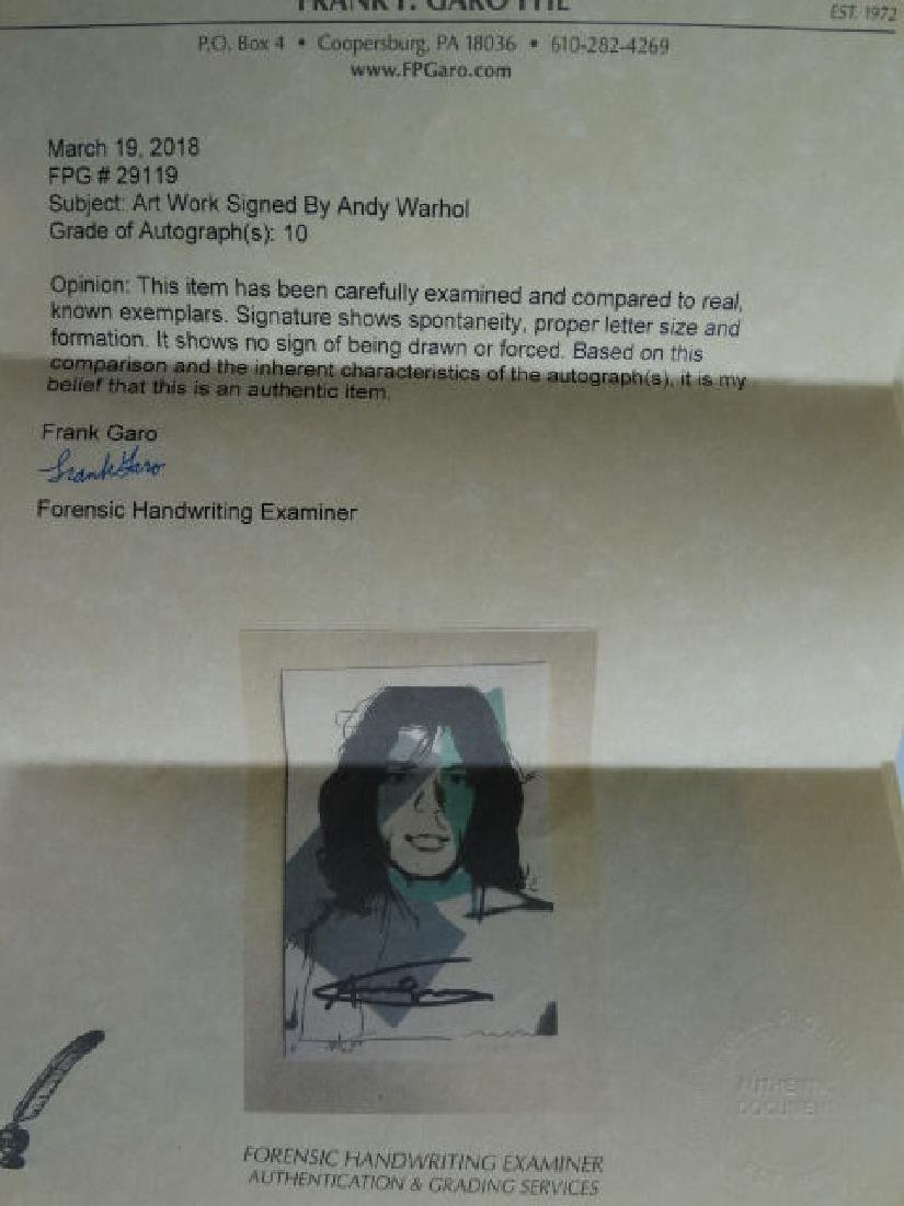 Andy Warhol hand signed- Mick Jagger - 2