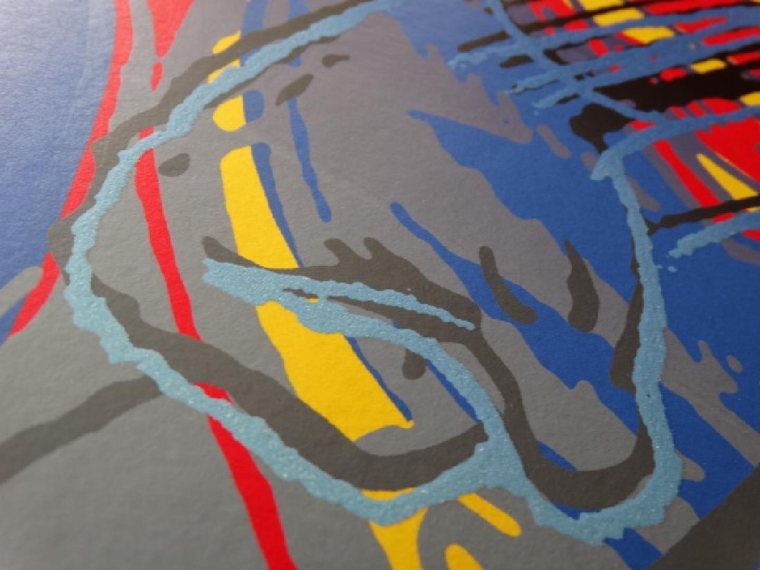 "Andy Warhol ""Superman"" Silkscreen, diamond dust - 6"