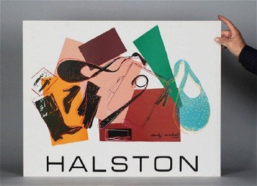 Andy Warhol Fashion Serigraph-Signed 1982 Halston