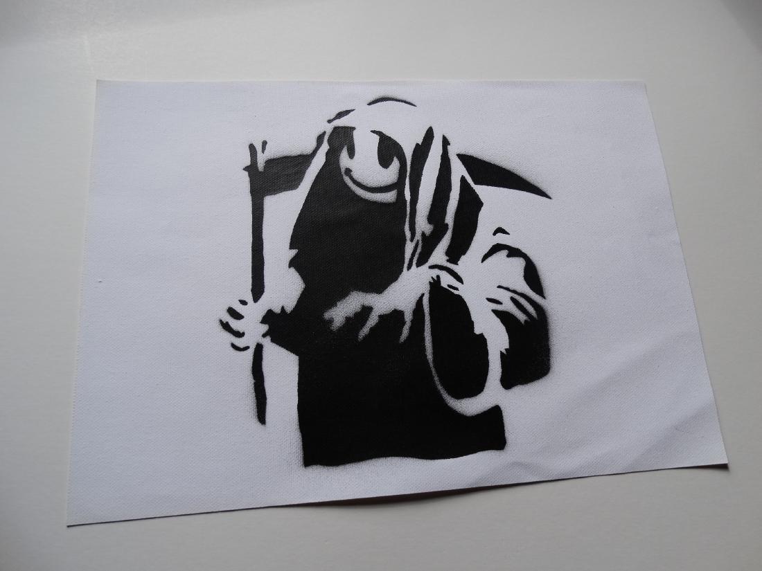Banksy, spray graffiti art - 5