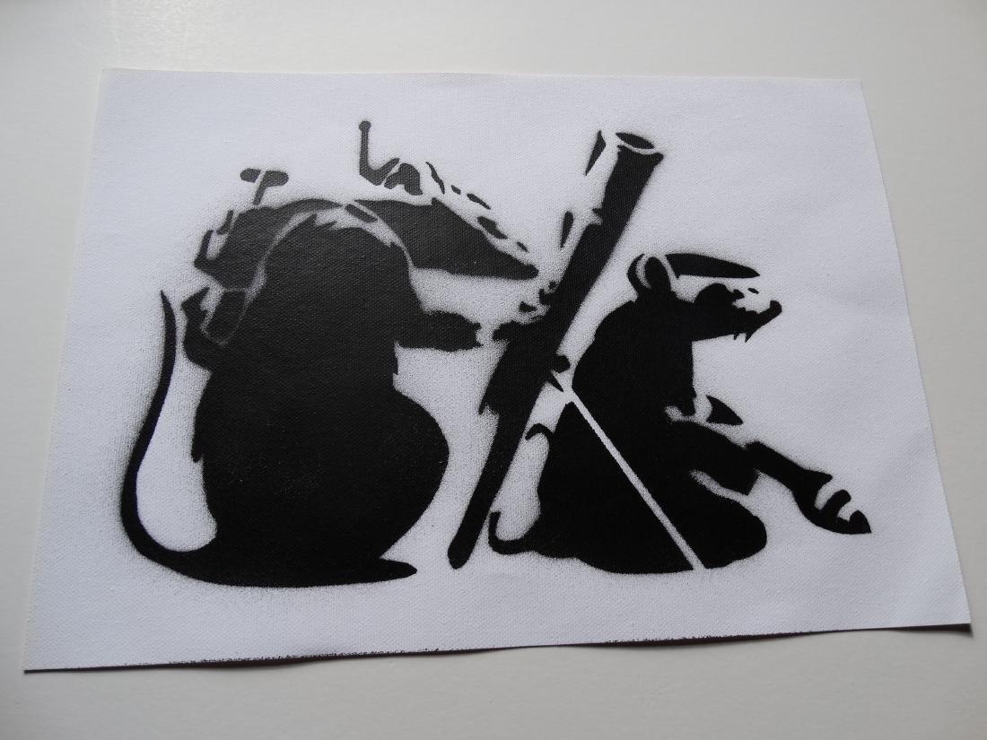 Banksy, spray graffiti art - 3