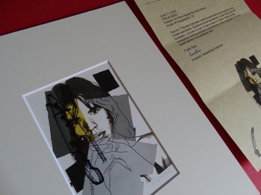 Andy Warhol hand signed- Mick Jagger - 7