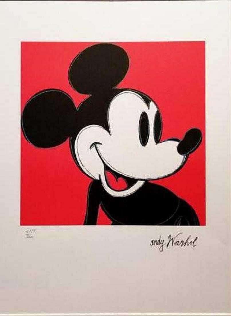 ANDY WARHOL, MICKEY MOUSE, SIGNED IN PRINT, numbered
