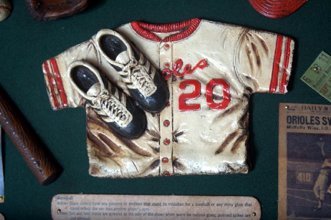 Baseball Collectible Shadow Box Sign Display Wood - 2