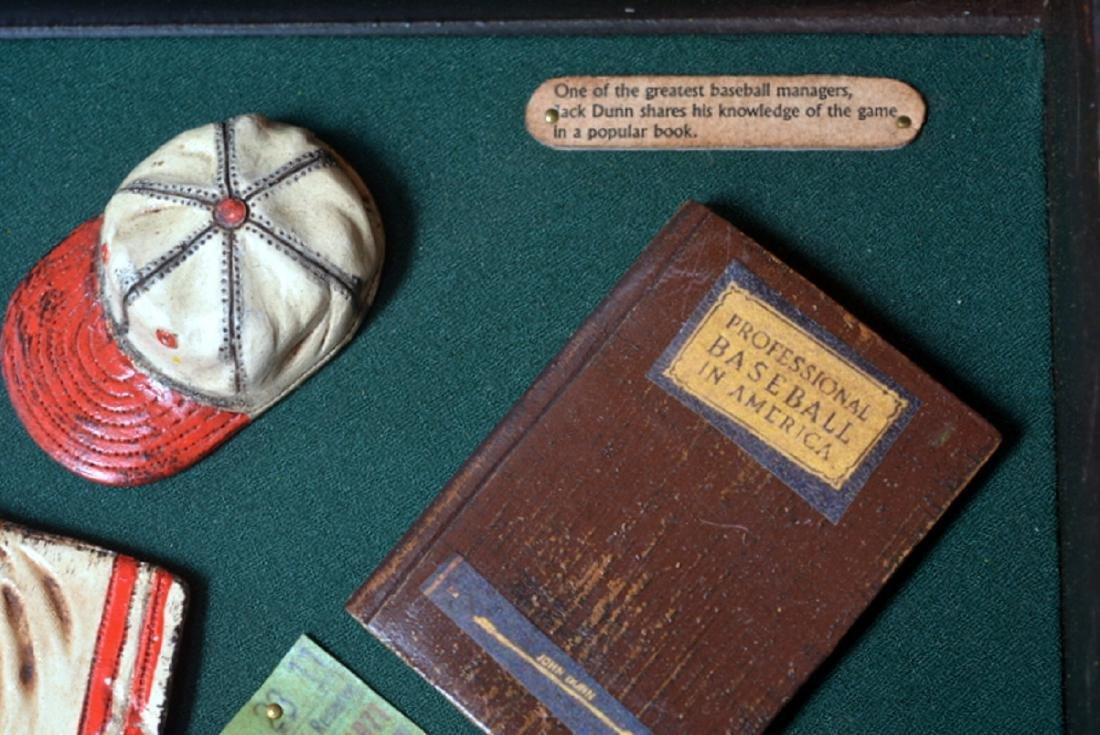 Baseball Collectible Shadow Box Sign Display Wood - 3