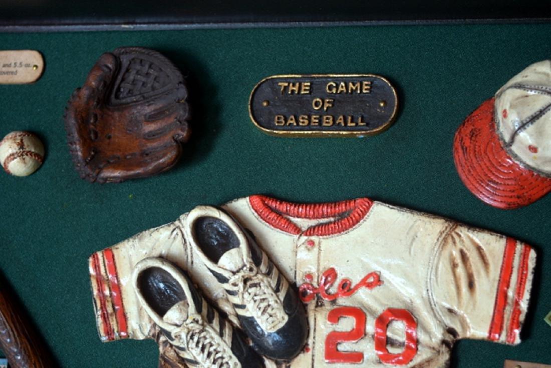 Baseball Collectible Shadow Box Sign Display Wood - 5