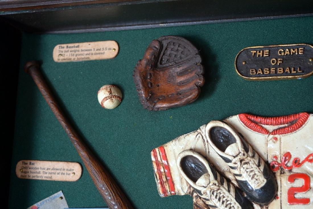 Baseball Collectible Shadow Box Sign Display Wood - 6