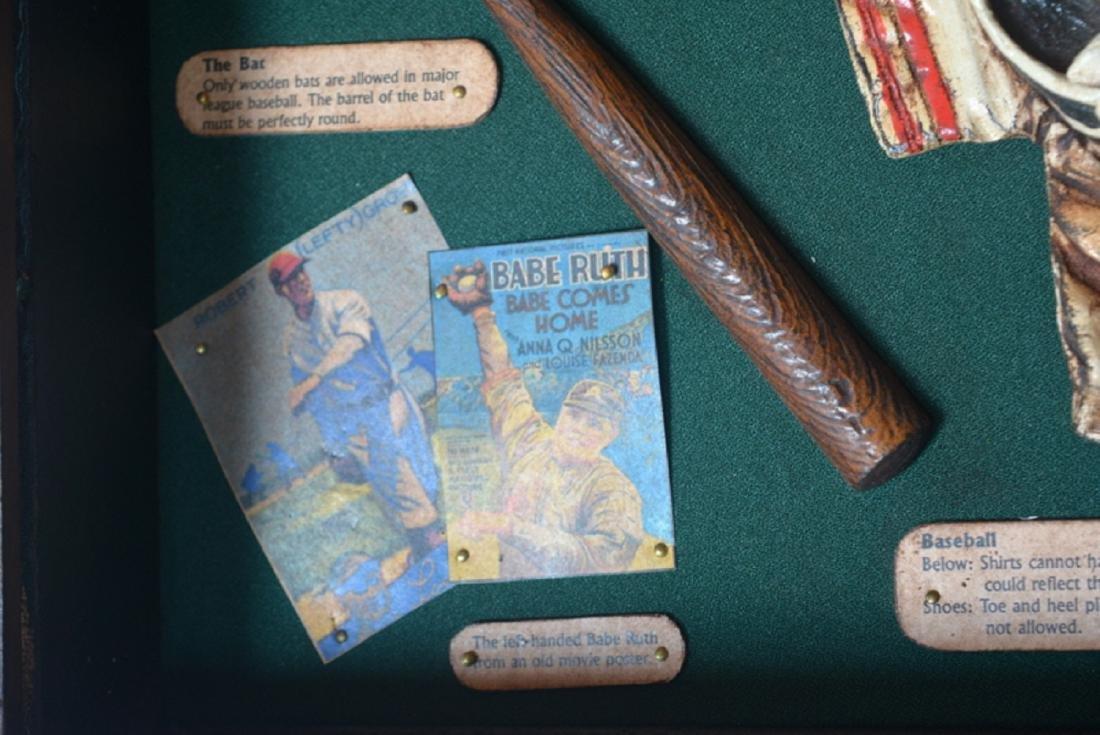 Baseball Collectible Shadow Box Sign Display Wood - 7