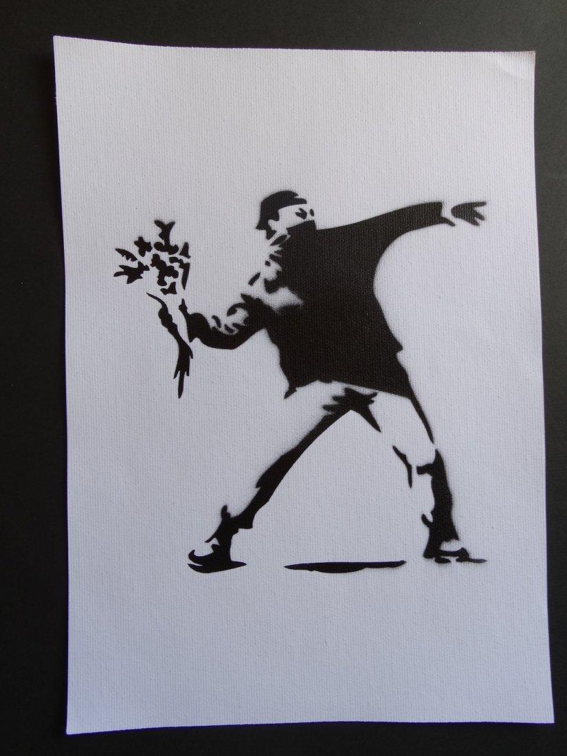 Banksy, spray graffiti art - 2