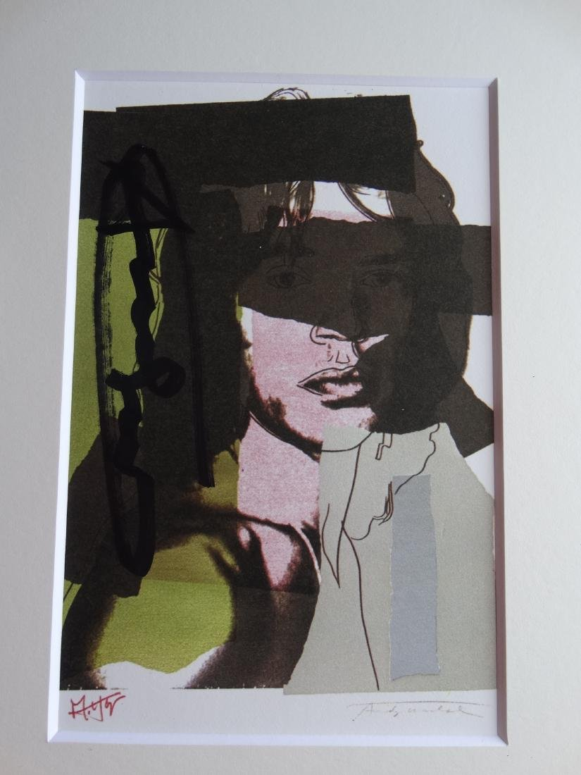 Andy Warhol hand signed- Mick Jagger - 3
