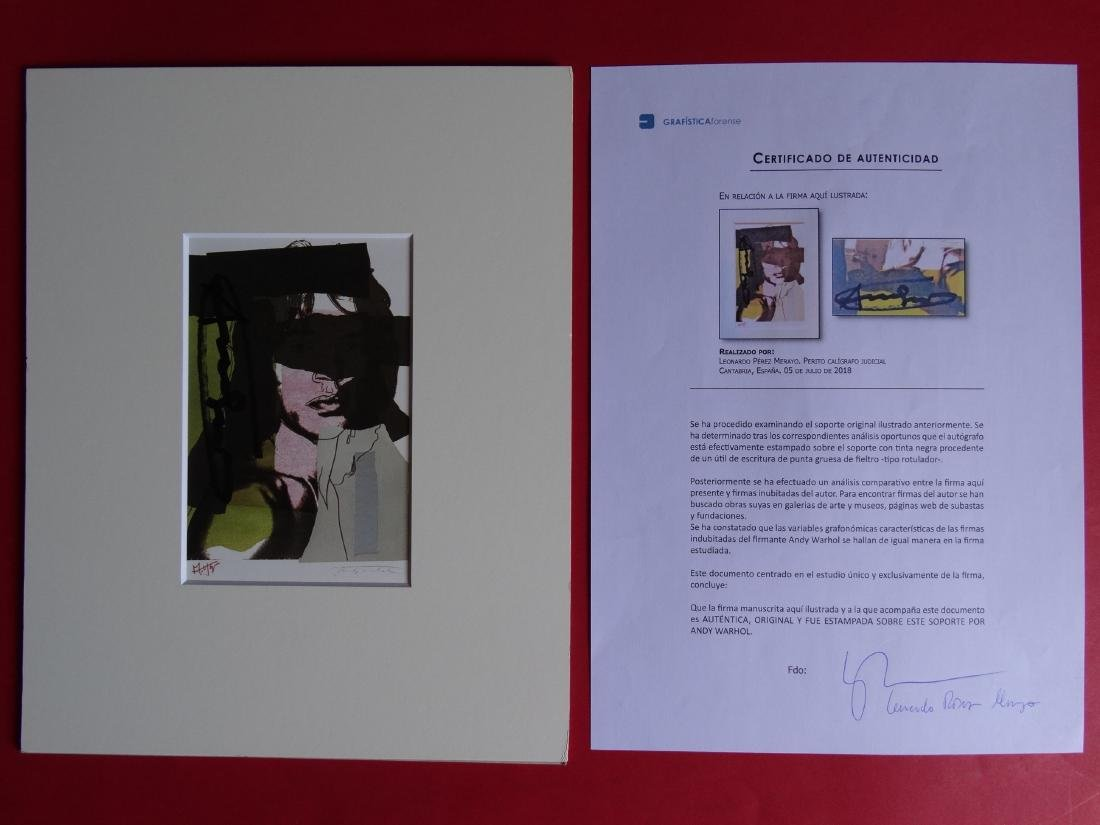 Andy Warhol hand signed- Mick Jagger - 4