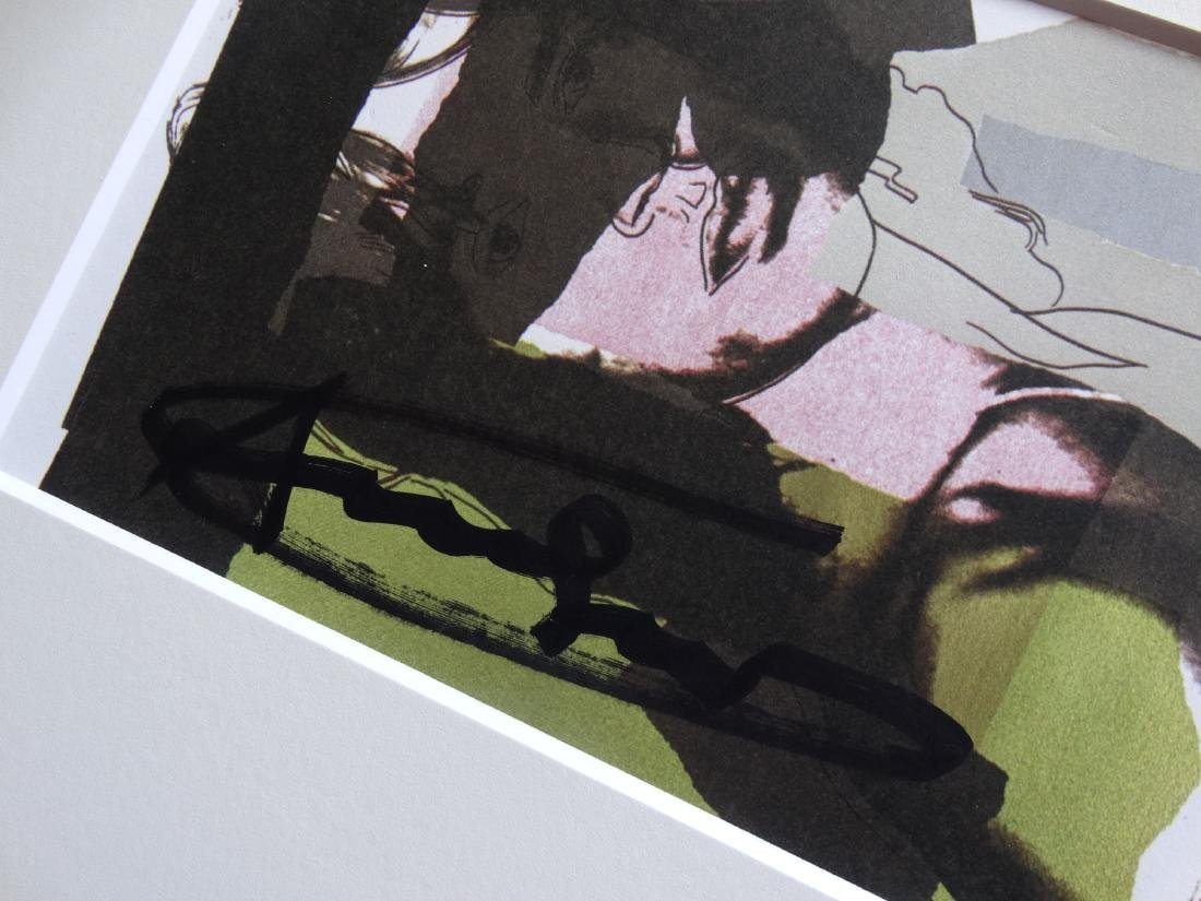 Andy Warhol hand signed- Mick Jagger - 6