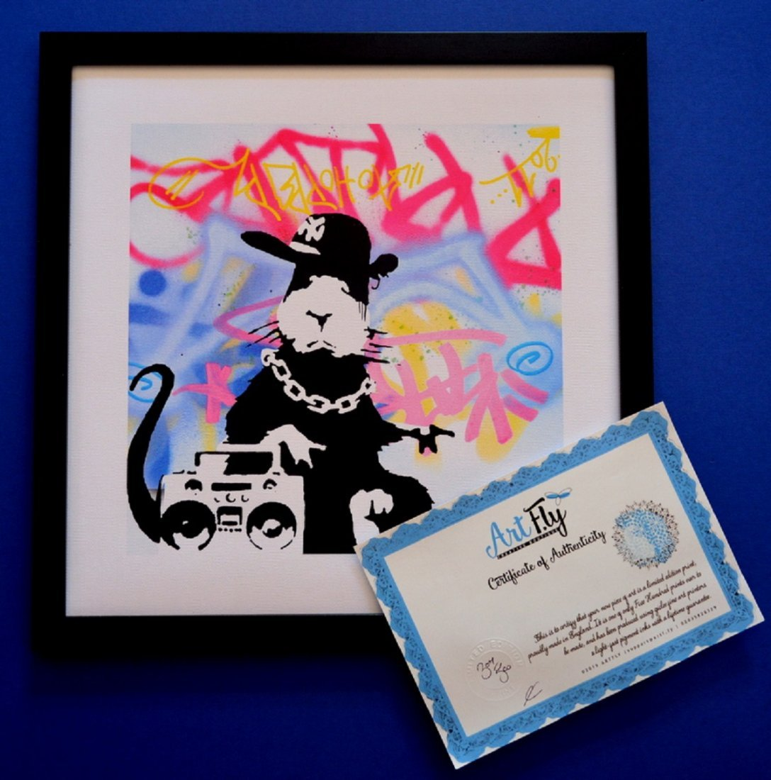 BANKSY GHETTO RAT EXCLUSIVE LIMITED EDITION PRINT WITH