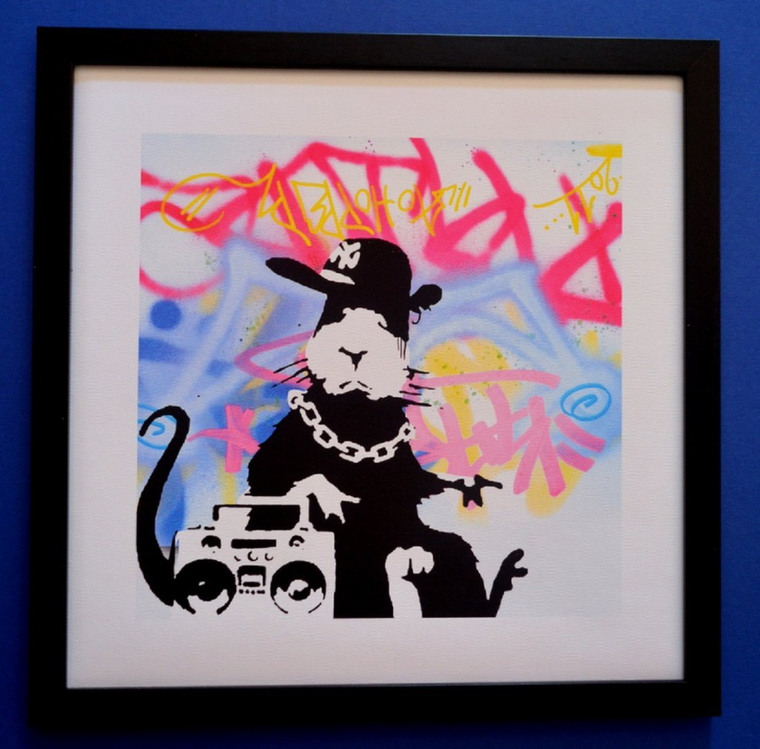 BANKSY GHETTO RAT EXCLUSIVE LIMITED EDITION PRINT WITH - 2