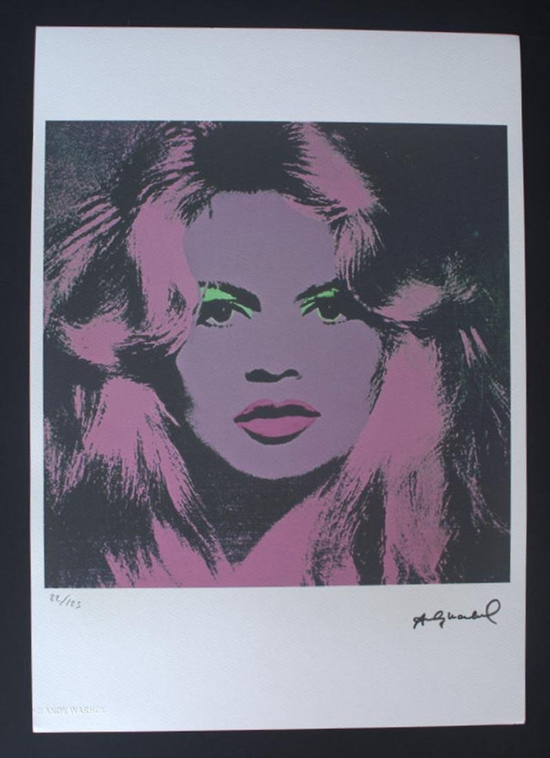 Andy Warhol - lithography, Andy Warhol stamp, 35x50 cm - 2