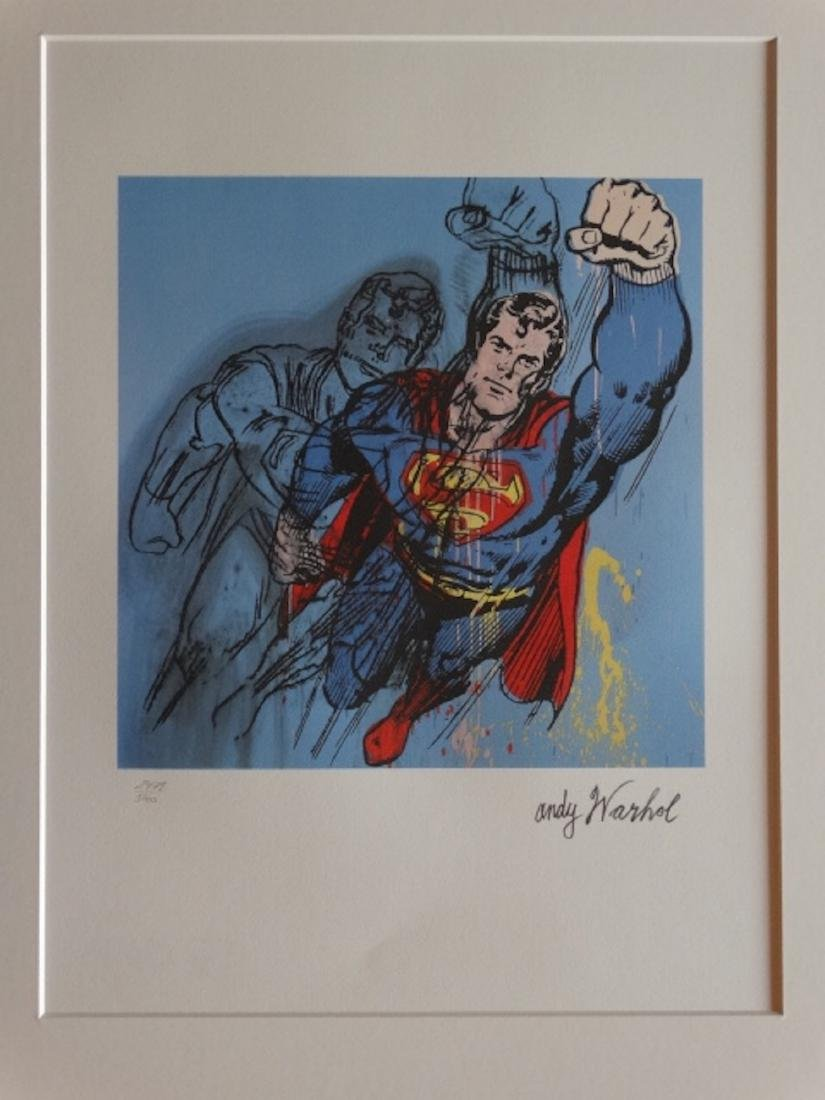 ANDY WARHOL,  SUPERMAN, SIGNED, NUMBERED - 2
