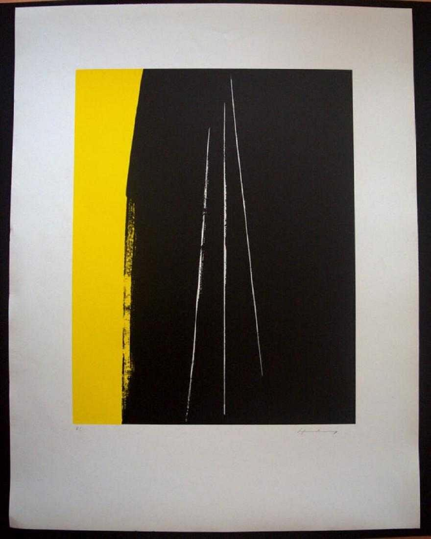 Hans Hartung, Lithograph on paper signed by the artist