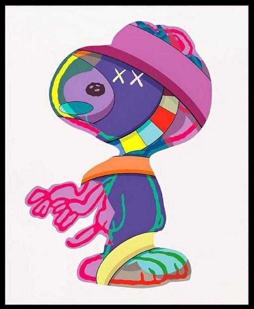 3ffb2d9d99538e Kaws x Snoopy 11x15 Poster Print Peanuts Graffiti