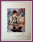 Salvador Dali Lithography 50 x 65 Bfk Rives Stamp dry
