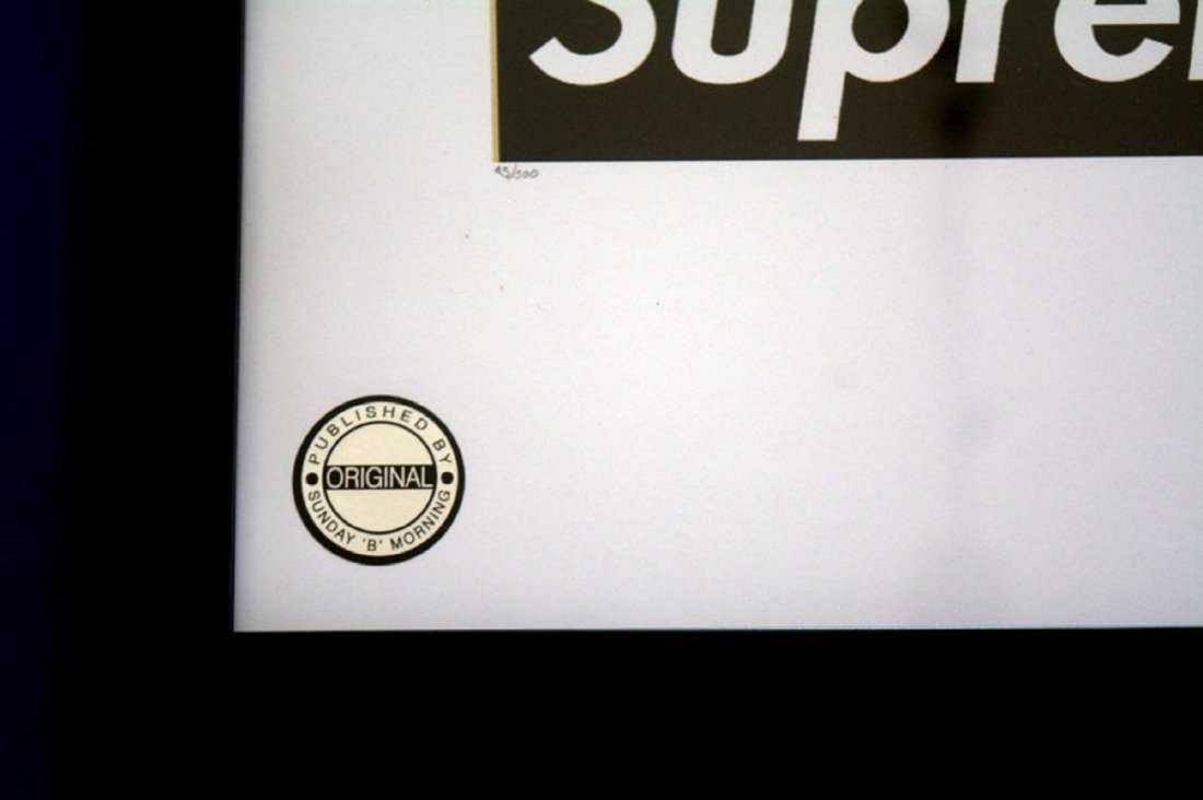 Fairchild Paris, supreme Kaws Snoopy print framed - 2