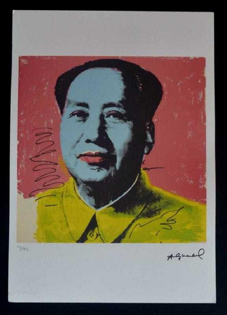 Andy Warhol - lithography, Andy Warhol stamp, 35x50 cm