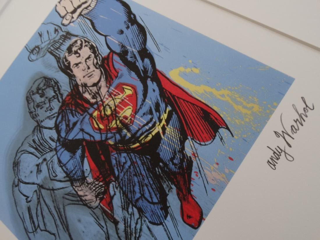 ANDY WARHOL, SUPERMAN, SIGNED, NUMBERED - 5