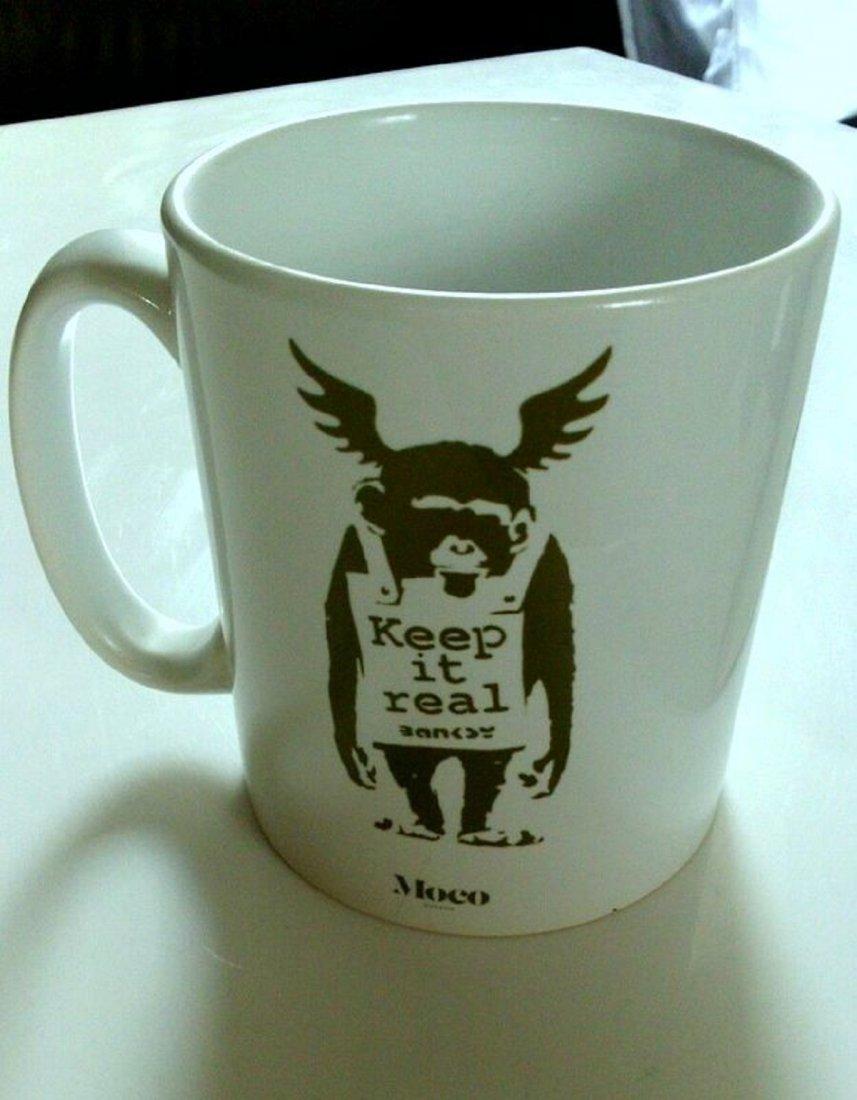 Banksy porcelain mug from the Moco Museum - 2