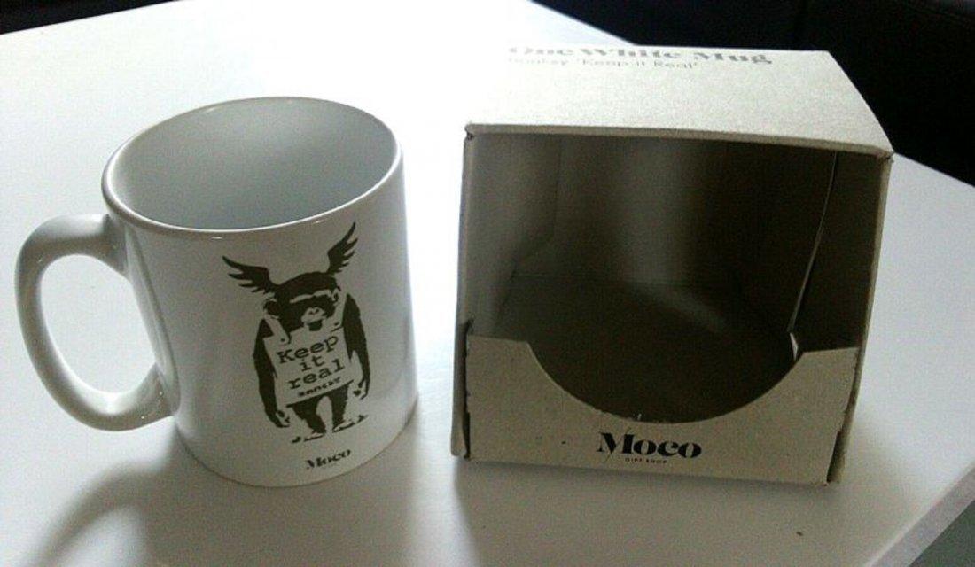 Banksy porcelain mug from the Moco Museum - 3