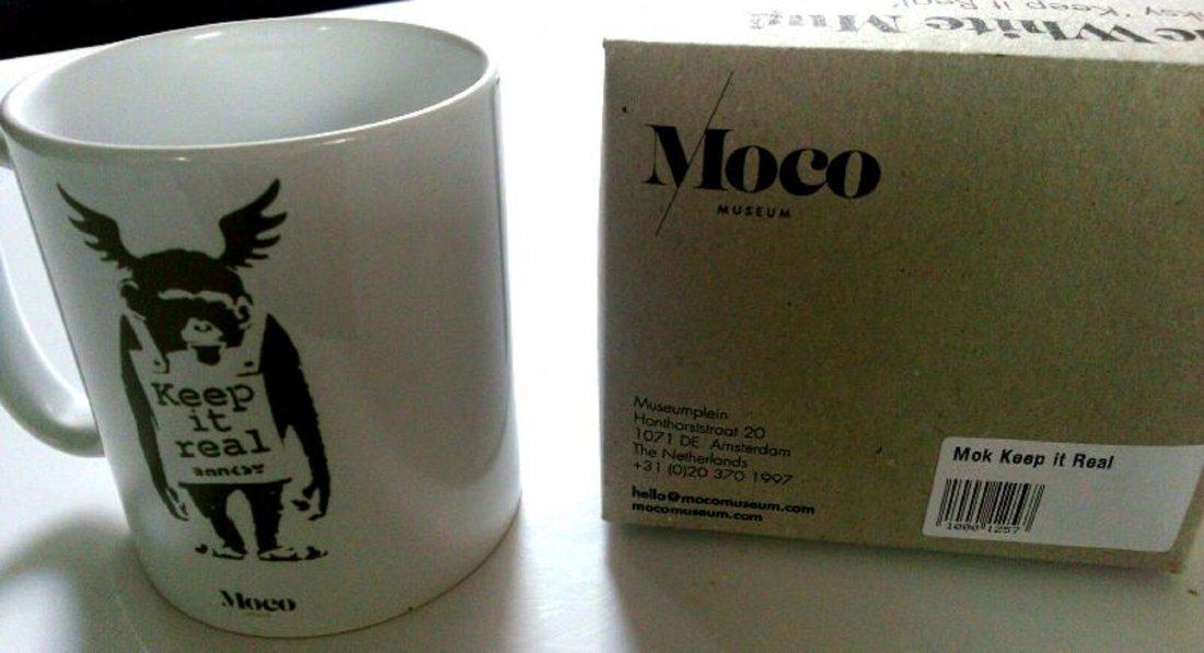 Banksy porcelain mug from the Moco Museum - 4