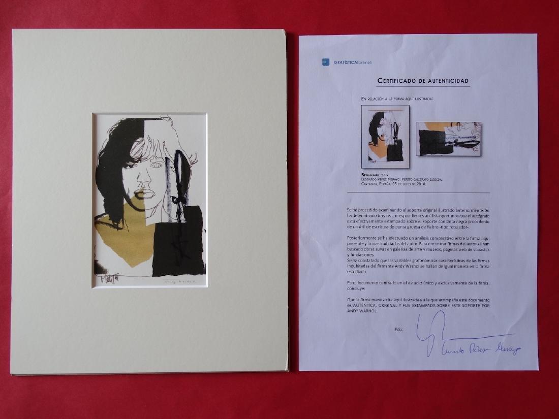 Andy Warhol hand signed- Mick Jagger - 3