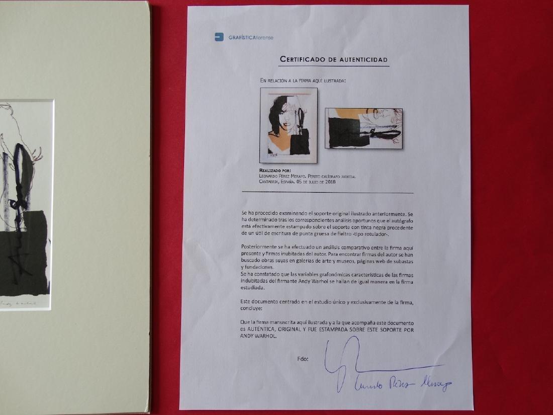 Andy Warhol hand signed- Mick Jagger - 4