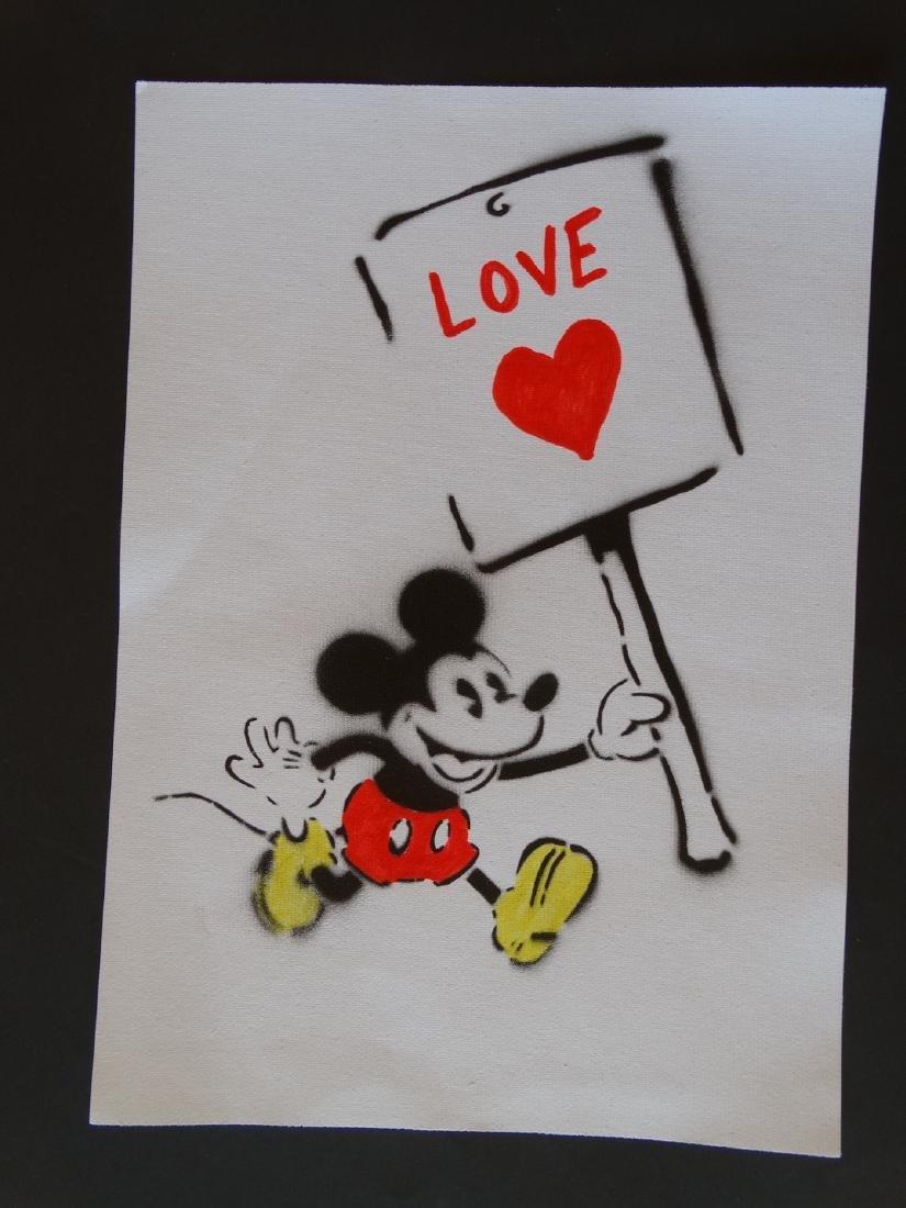 Banksy, spray graffiti art