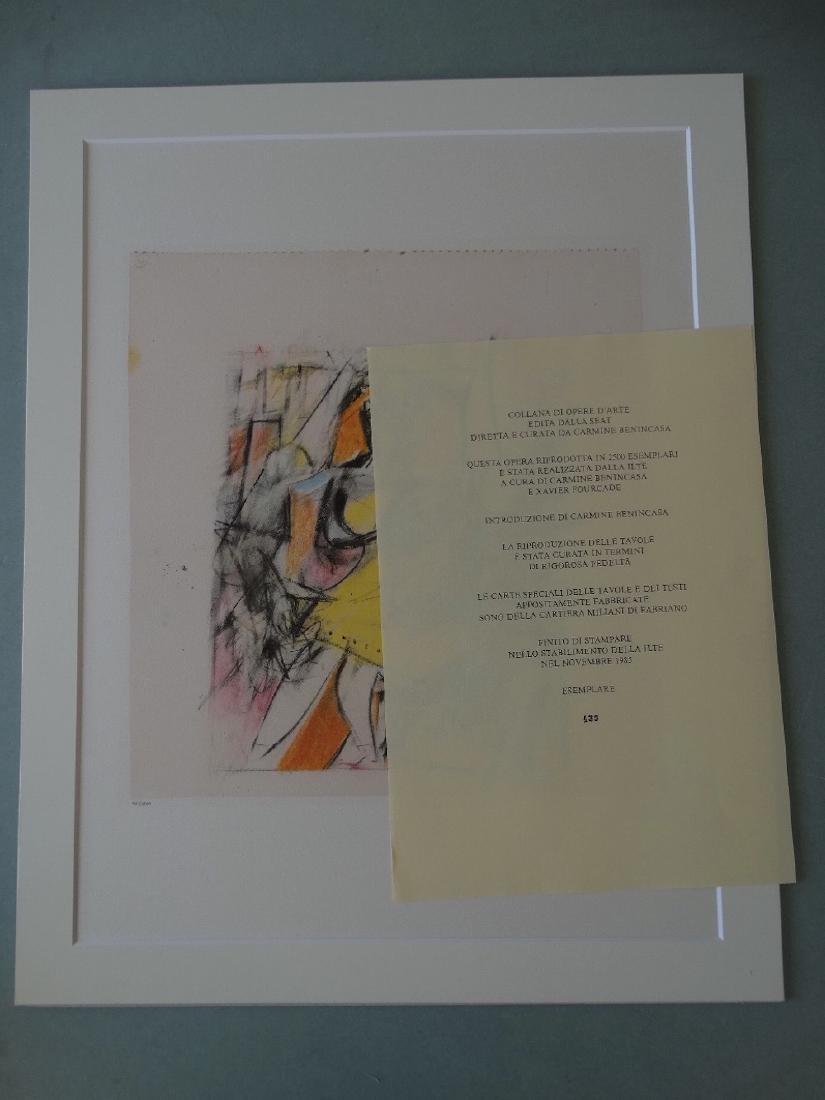 Willem de Kooning - Untitled, 1985+Justification - 2