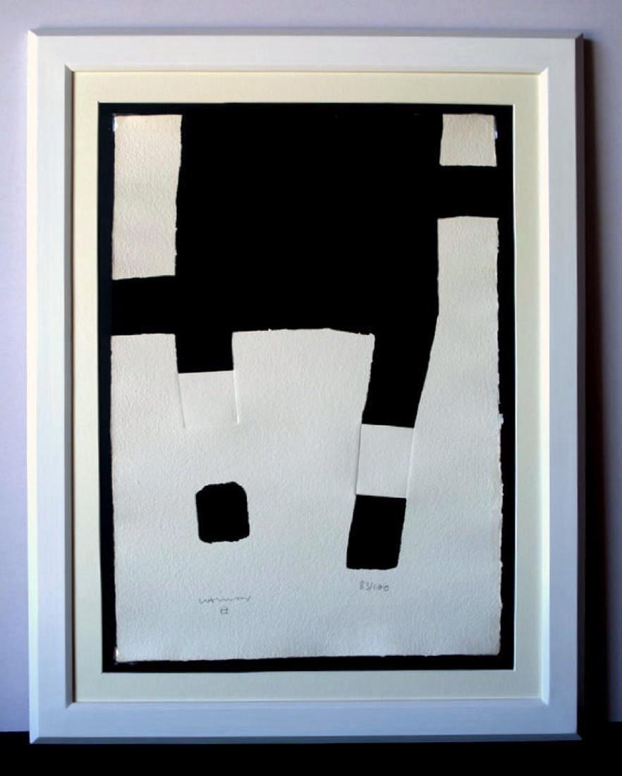 Eduardo Chillida, silkscreen signed by hand 72 x 51 cm