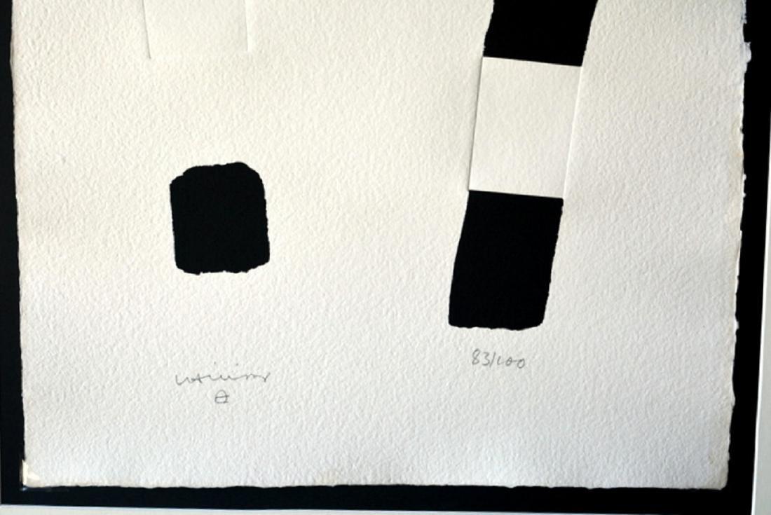 Eduardo Chillida, silkscreen signed by hand 72 x 51 cm - 2