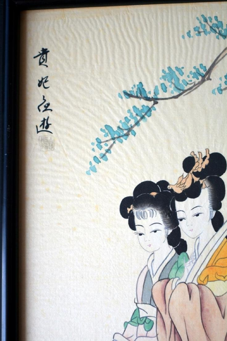 CHINA WATERCOLORS PAINTED IN SILK - 3