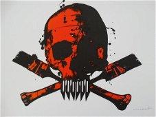Paul Insect- Banksy skull – POW