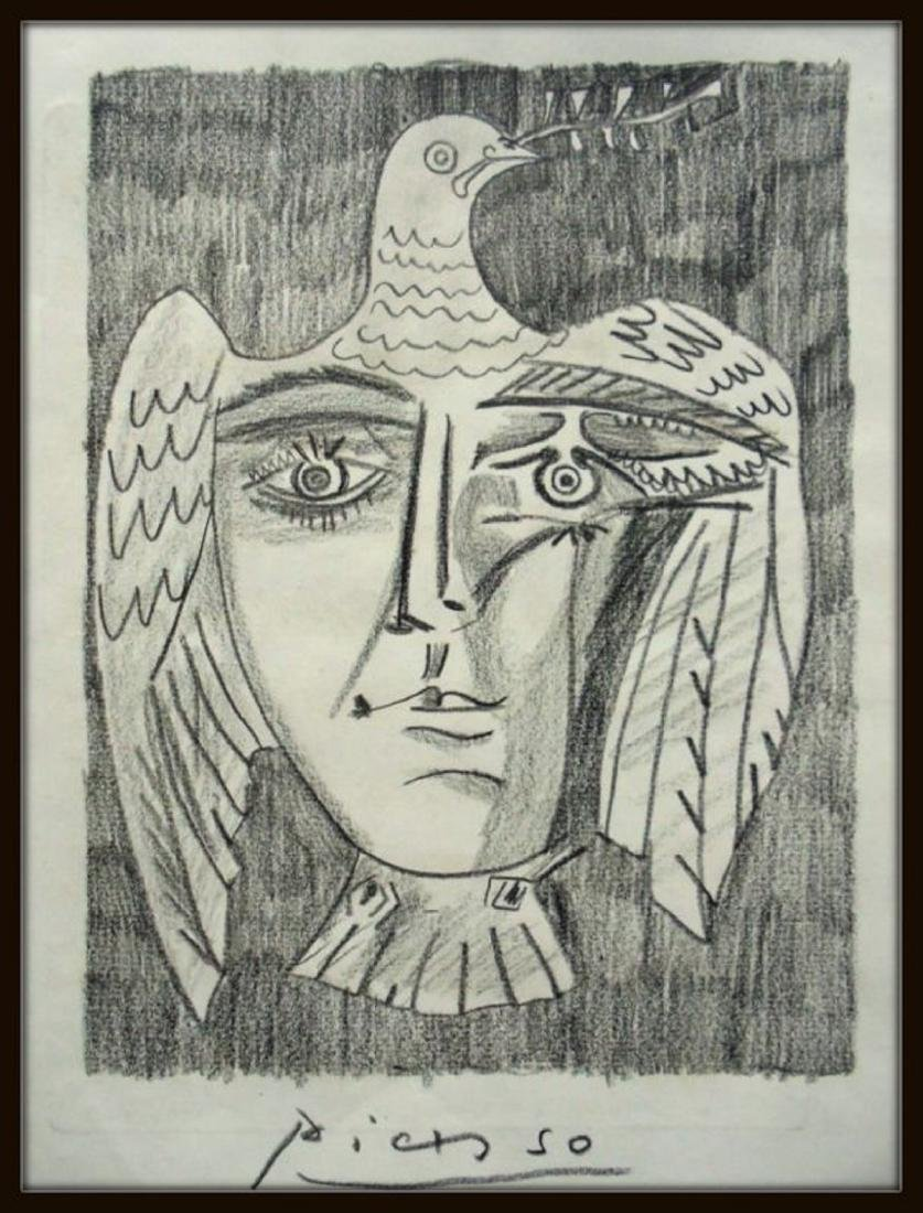 PABLO PICASSO - DRAWING ON PAPER