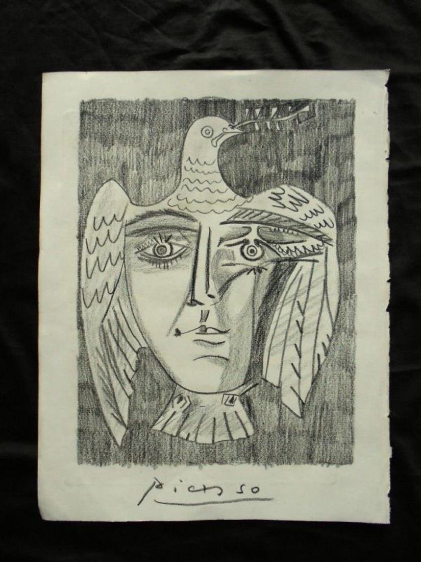PABLO PICASSO - DRAWING ON PAPER - 2