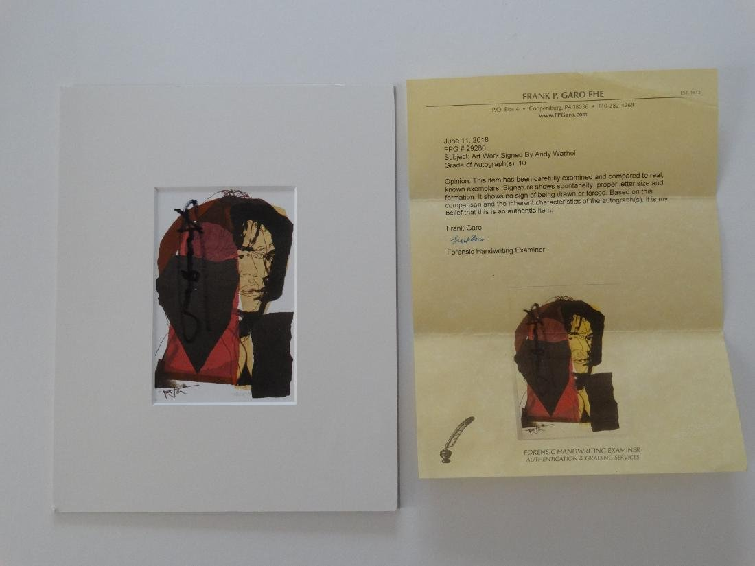 Andy Warhol hand signed- Mick Jagger - 2