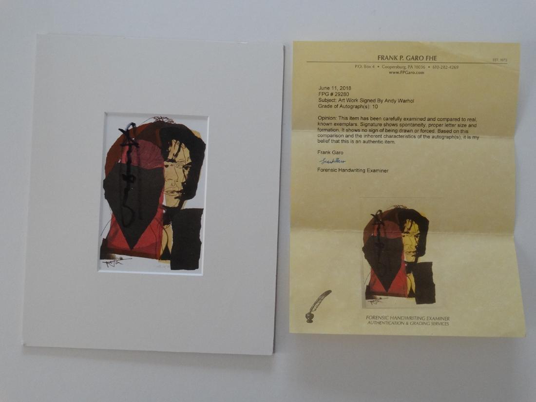 Andy Warhol hand signed- Mick Jagger - 6