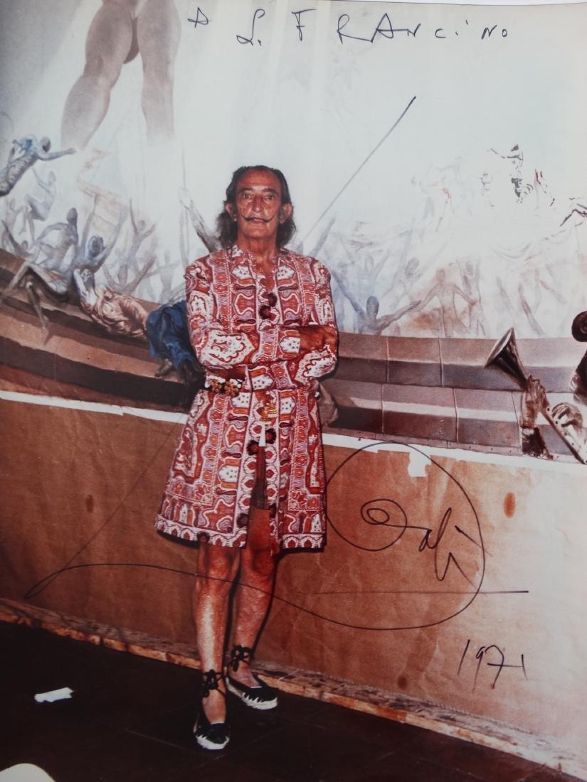 Salvador Dali, old photograph, 1970