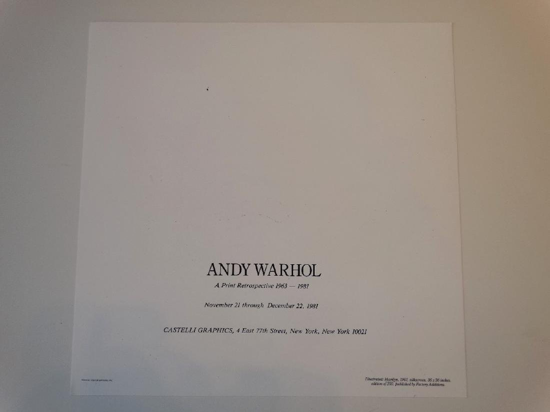 Andy Warhol - Marilyn, hand signed - 3