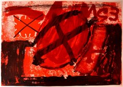 Antoni Tapies, Engraving, 90 x 63 cm, signed by hand