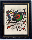 Joan Miro, lithograph CERTIFIED BY THE MIRO FOUNDATION