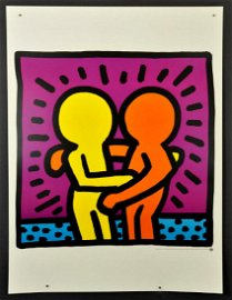 Keith Haring, Untitled 1987, exhibition , Poster 80 x