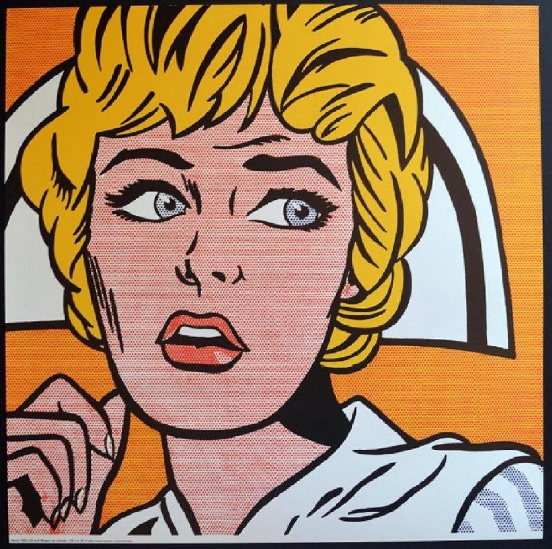 """/"""" Shipboard Girl /"""" Face Popart in Mint Roy Lichtenstein Poster"""