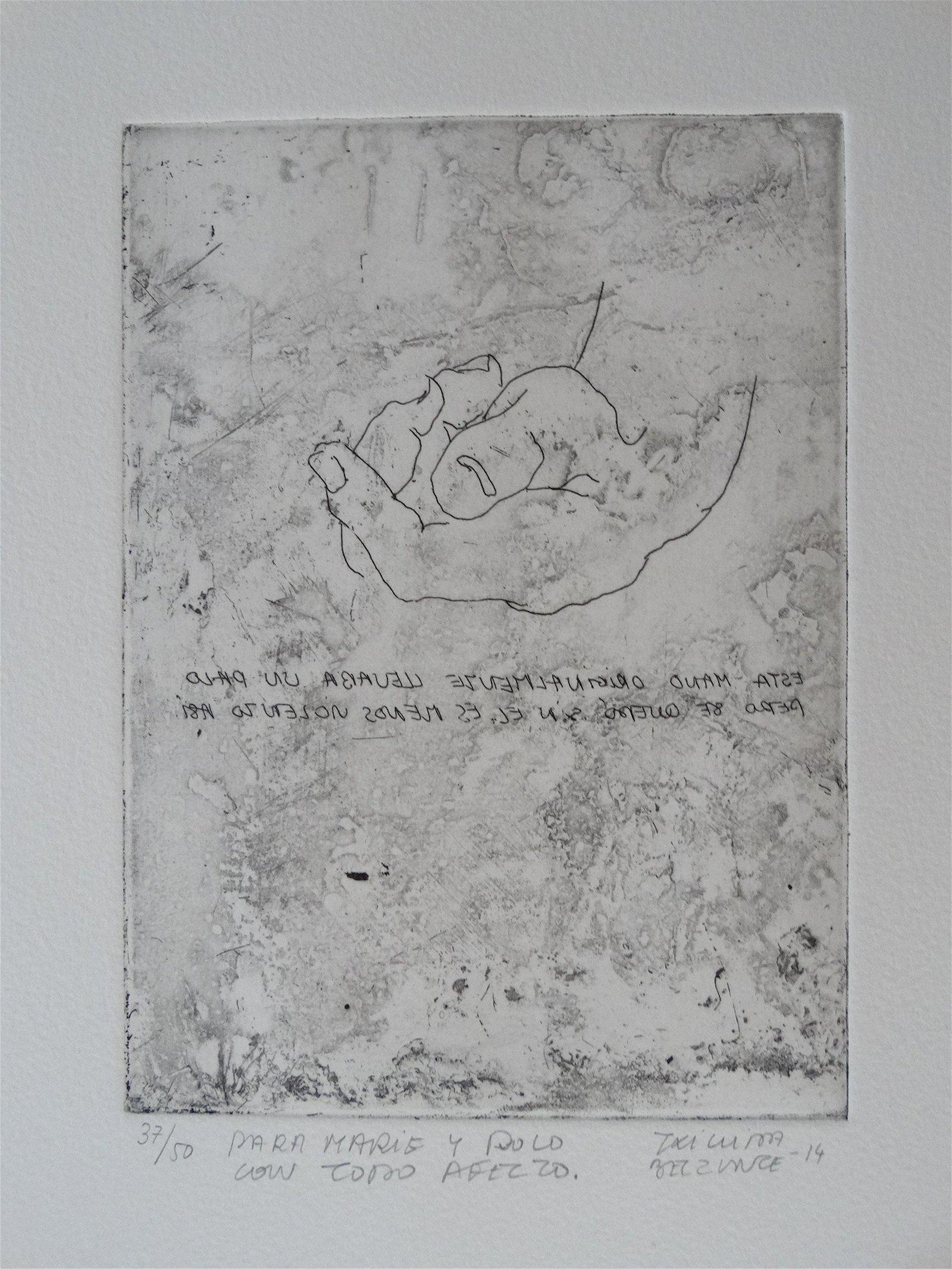 Eduardo Chillida Belzunce, hand signed etching
